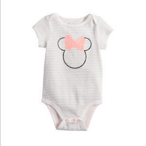 Baby Girl Graphic Striped Bodysuit
